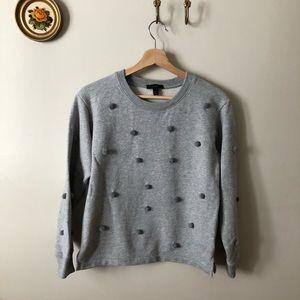J. Crew Sweaters - J. Crew pompom sweatshirt